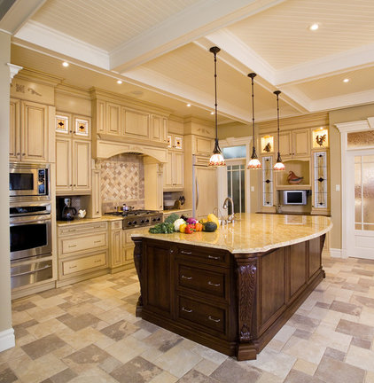 Traditional Kitchen by Fusion Marble & Granite