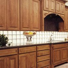 Contemporary Kitchen kitchen glass block