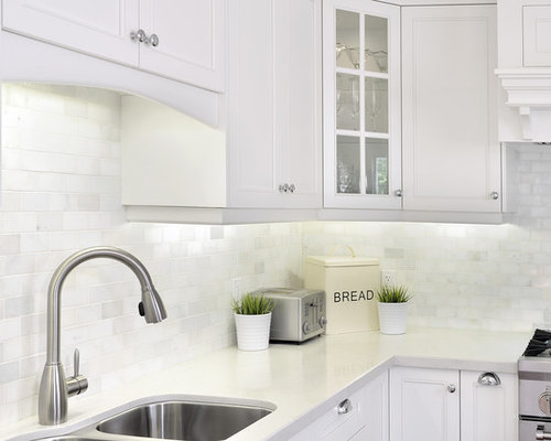 Transitional Kitchen Photo In Toronto With An Undermount Sink, Shaker  Cabinets, Quartz Countertops,