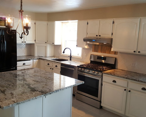 Granite Kitchen In Blue Dunes