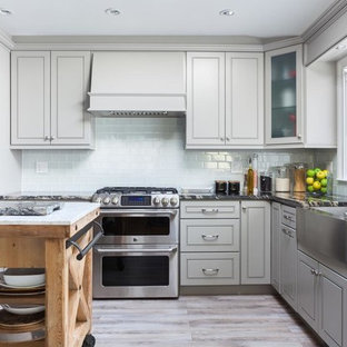 Kitchen Gray Cabinets _ Greige Maple (Style-K3)