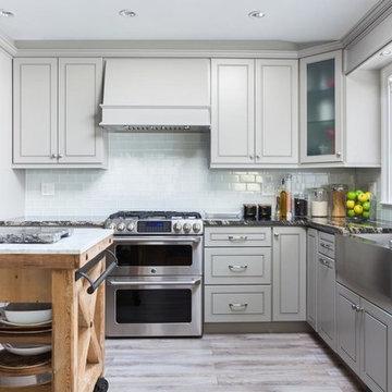 Kitchen Gray Cabinets _ Greige Maple (Style-K3)