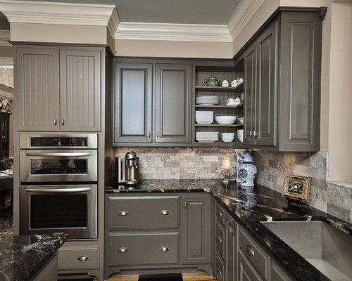 save photo - Charcoal Grey Kitchen Cabinets