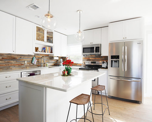 wood backsplash houzz