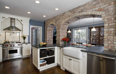 Kitchen of the Week: Exposed Brick Arches in Illinois