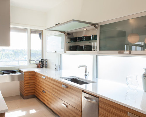 No upper cabinets houzz for Upper kitchen cupboards