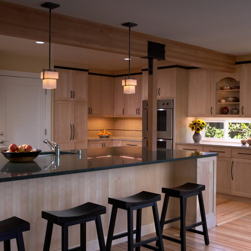 Maple Shaker Kitchen Cabinets natural maple shaker cabinets | houzz