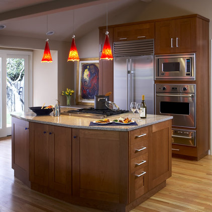 Contemporary kitchen by harrell remodeling for Contemporary kitchen pendant lighting