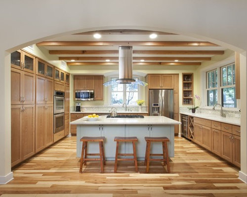 Natural Hickory Floor | Houzz