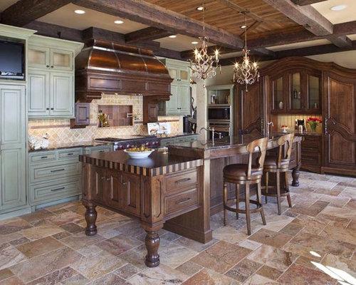 kitchen floor tile designs images. Elegant galley kitchen photo in Minneapolis with raised panel cabinets  green and paneled Kitchen Floor Tile Color Houzz