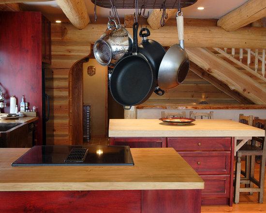 Red Kitchen Cabinets Houzz