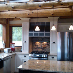 traditional kitchen by Traditional Log Homes Ltd