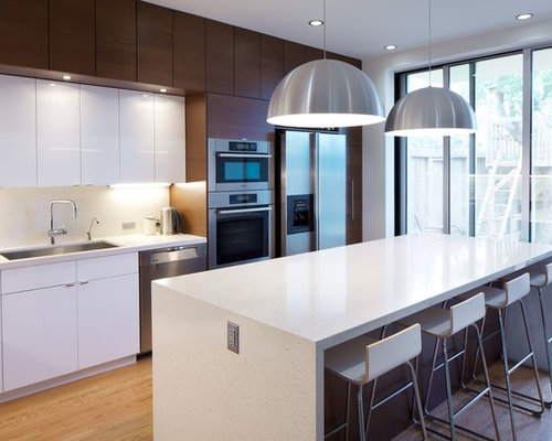 Modern Kitchen Ideas   Modern Kitchen Idea In Other With Stainless Steel  Appliances, A Single
