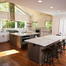 Eclectic Kitchen by CastleHaven Construction
