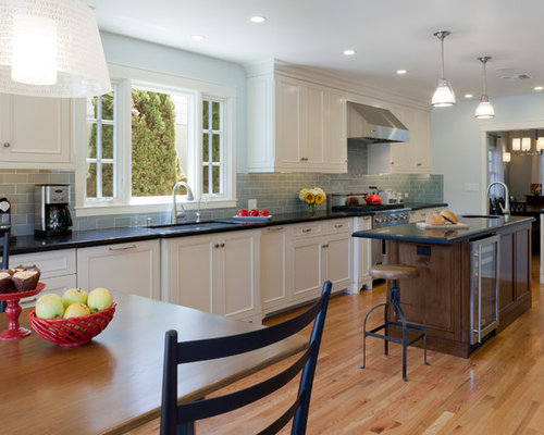 Kitchen Backsplash Accents subway backsplash with accents | houzz