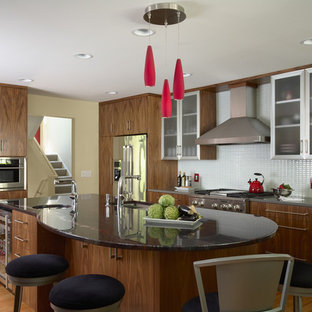 Trendy kitchen photo in Minneapolis with stainless steel appliances