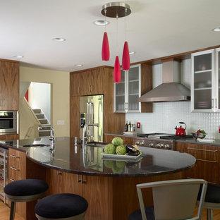 ミネアポリスのコンテンポラリースタイルのおしゃれなキッチン (シルバーの調理設備の) の写真