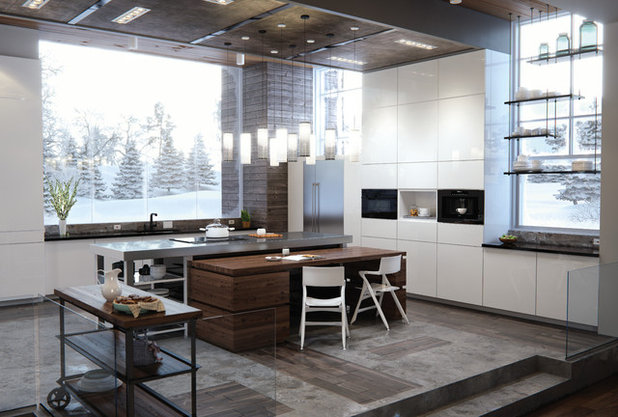 Modern Kitchen by Sub-Zero, Wolf, and Cove