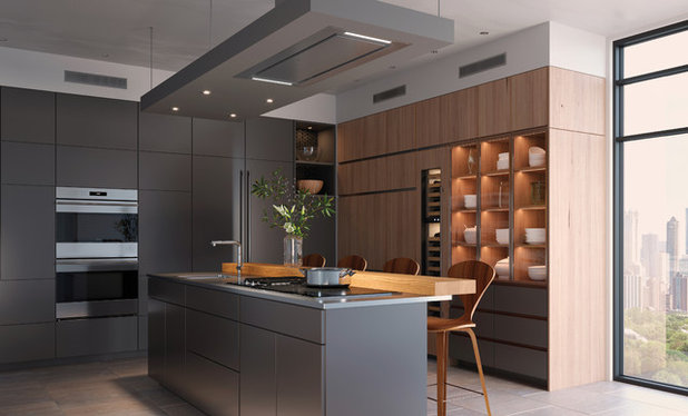 Contemporary Kitchen by Sub-Zero, Wolf, and Cove