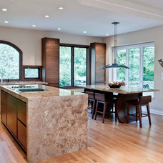 Contemporary Kitchen by SANTAROSSA MOSAIC & TILE CO INC