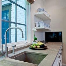 Contemporary Kitchen by SANTAROSSA MOSAIC & TILE CO INC