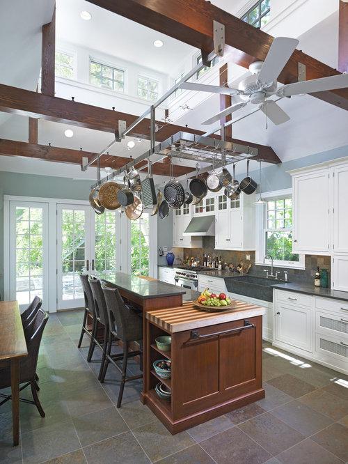 hanging pot rack home design ideas renovations photos. Black Bedroom Furniture Sets. Home Design Ideas