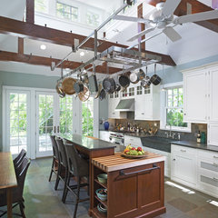 eclectic kitchen by Krieger + Associates Architects Inc