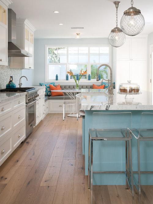 Cuisine bord de mer photos et id es d co de cuisines - Fetching images of blue and yellow kitchen design and decoration ideas ...