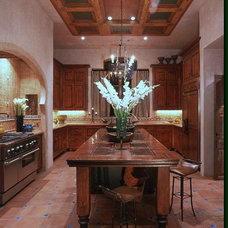 Mediterranean Kitchen by Rick O'Donnell Architect