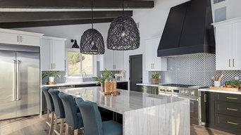 Kitchen Island & Range | Complete Remodel | Hollywood Hills
