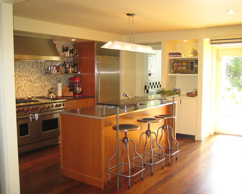 modern retro kitchens houzz. Black Bedroom Furniture Sets. Home Design Ideas