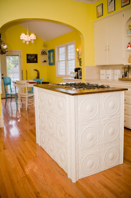 pressed metal: emboss your kitchen with a style all its own