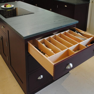 Kitchen Island unit with cutlery drawer open
