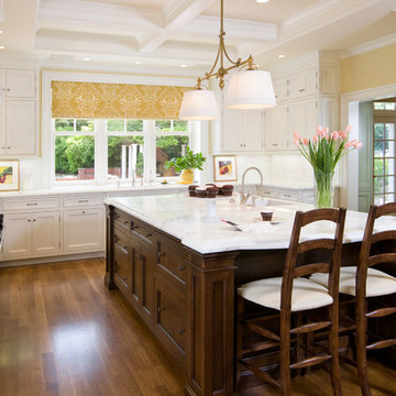 Kitchen Island with Carrara Mable Countertop