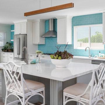 Kitchen Island with Dual Sinks