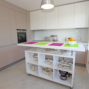 Kitchen Island with movable trolley