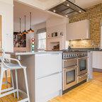 Oversized smoked oak parquet - Modern - Kitchen - London - by Hitt Oak Ltd
