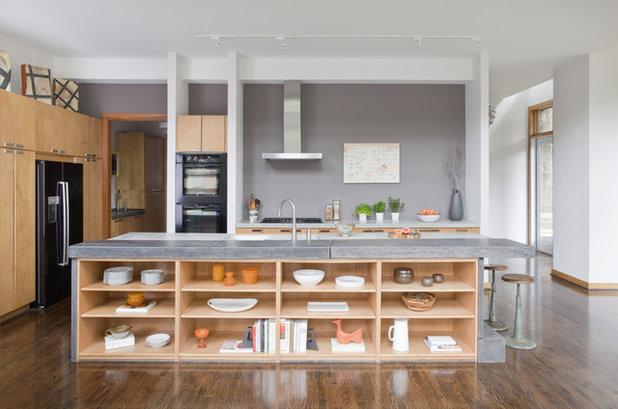 Idea to steal: kücheninsel mit regalnische