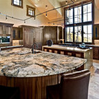 Dramatic Vaulted Ceiling In Kitchen Traditional