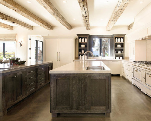 Houzz | 50+ Best Farmhouse Concrete Floor Kitchen Pictures ...