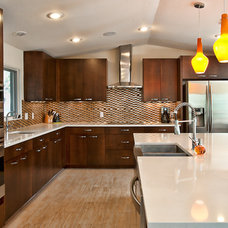 Contemporary Kitchen by Kelle Contine Interior Design, LLC