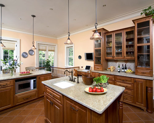 Peach Kitchen | Houzz