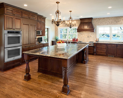 Dark Stained Cabinets Houzz