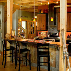 Rustic Kitchen by Lands End Development - Designers & Builders