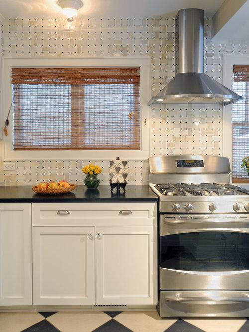 Basketweave Backsplash Home Design Ideas Pictures