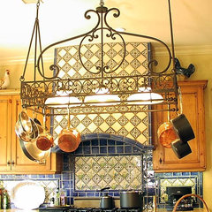 mediterranean kitchen lighting and cabinet lighting by Steven Handelman Studios