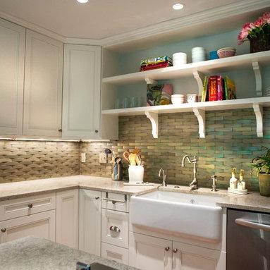 Dc Metro Open Shelves Kitchen Design Ideas, Pictures ...