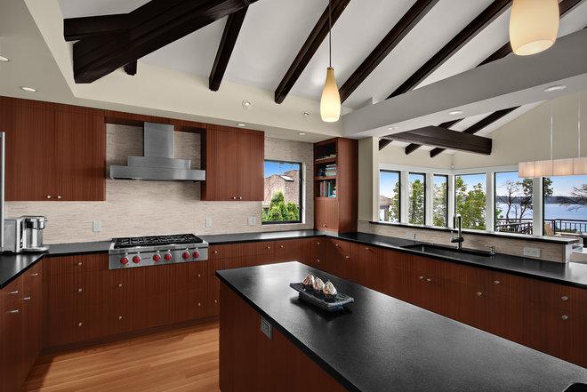 Transitional Kitchen by Logan's Hammer Building & Renovation