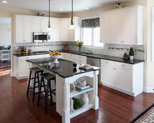 White Kitchen With Black Granite white kitchens with black countertops - newcountertop