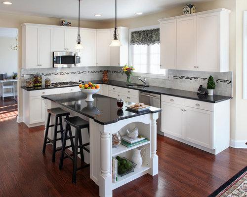 White Kitchen With Black Granite